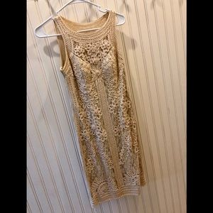 Sue Wong Lace Embellished Sheath Dress